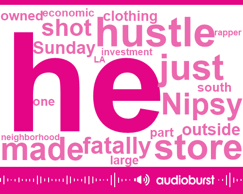 Listen to Rapper Nipsey Hussle killed in shooting outside
