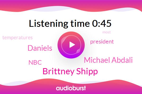 Brittney Shipp,Michael Abdali,NBC,Daniels,President Trump