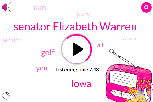Senator Elizabeth Warren,Iowa,Golf