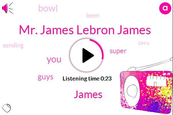 Mr. James Lebron James