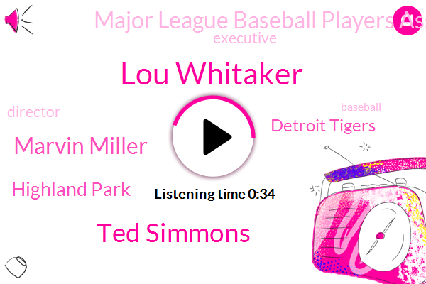 Lou Whitaker,Executive,Highland Park,Ted Simmons,Director,Marvin Miller,Detroit Tigers,Baseball,Major League Baseball Players Association,Eighteen Year,Three Years