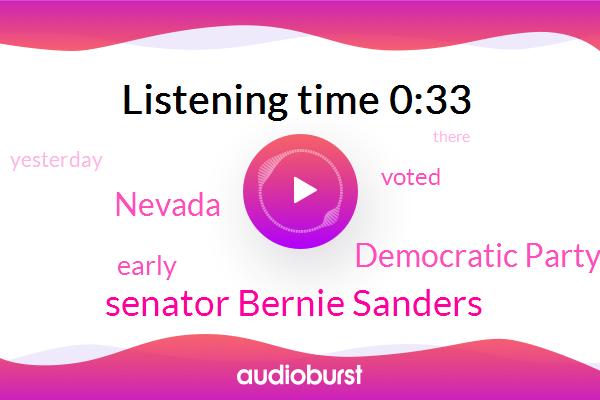 Nevada,Democratic Party,Senator Bernie Sanders