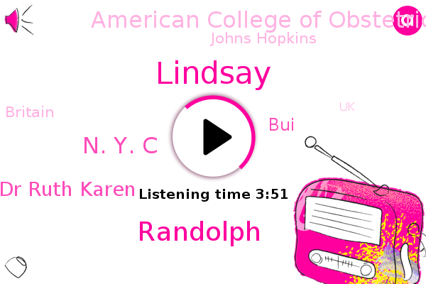 Lindsay,N. Y. C,Dr Ruth Karen,American College Of Obstetrics And Gynecology,Johns Hopkins,Randolph,Fever,BUI,Britain,UK,U.,Israel,United States