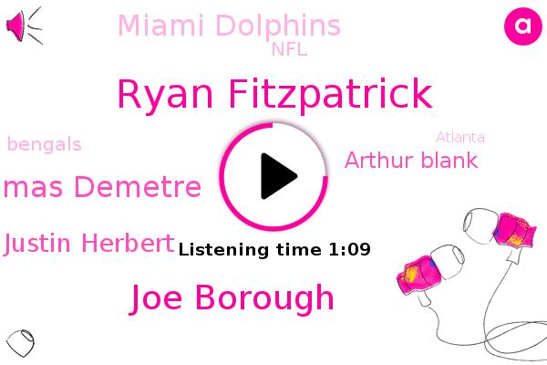 Ryan Fitzpatrick,Joe Borough,Thomas Demetre,Justin Herbert,Arthur Blank,Miami Dolphins,Los Angeles,Atlanta,NFL,Bengals,Cincinnati