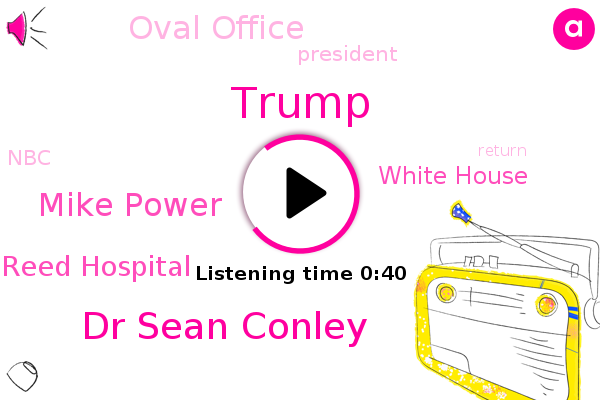 Donald Trump,Dr Sean Conley,President Trump,Walter Reed Hospital,White House,Oval Office,NBC,Mike Power