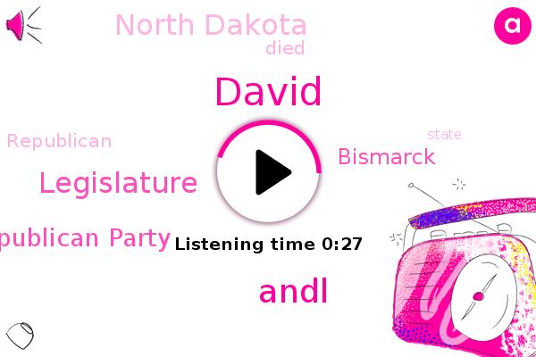 Andl,North Dakota,Legislature,Bismarck,David,Republican Party