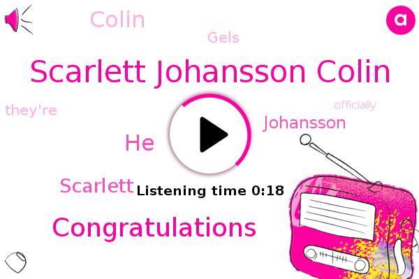 Scarlett Johansson Colin