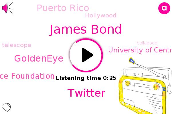 Puerto Rico,Twitter,Goldeneye,James Bond,Hollywood,National Science Foundation,University Of Central Florida