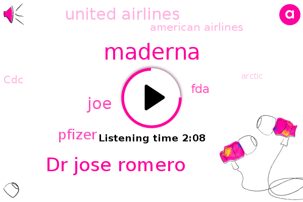 Maderna,Pfizer,FDA,NBC,United Airlines,Dr Jose Romero,American Airlines,Arctic,JOE,Europe,Arkansas,CDC