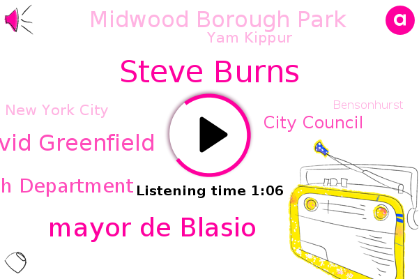 New York City,Steve Burns,City Health Department,City Council,Midwood Borough Park,Yam Kippur,Mayor De Blasio,Bensonhurst,David Greenfield