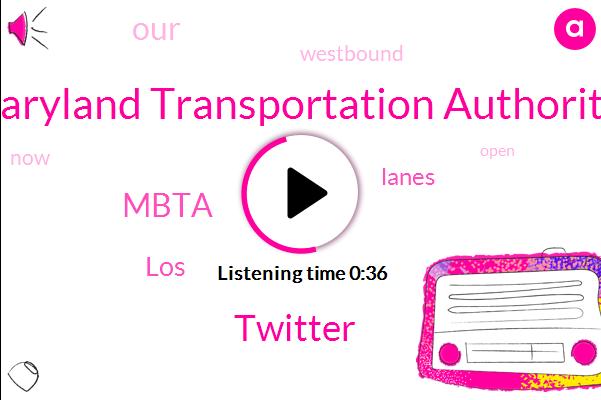 Maryland Transportation Authority,Twitter,Mbta,LOS