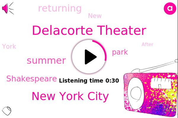 Listen: Shakespeare In The Park Returns To The Delacorte in New York For Summer 2021