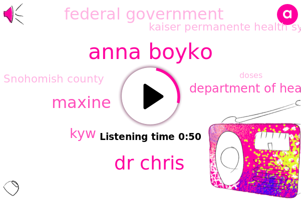 KYW,Anna Boyko,Dr Chris,Department Of Health,Snohomish County,Maxine,Federal Government,Kaiser Permanente Health System