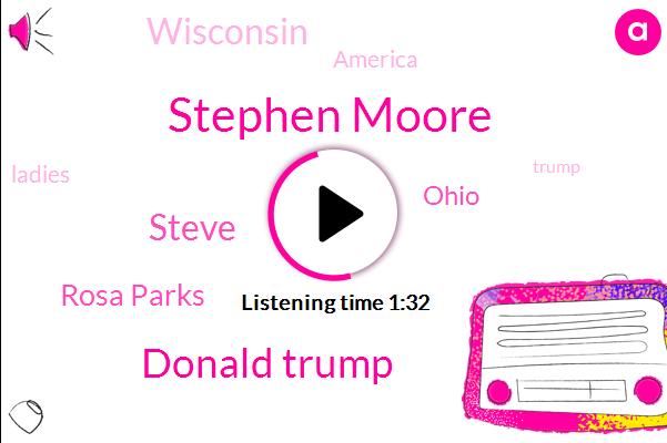 Stephen Moore,Ohio,Wisconsin,Rosa Parks,Donald Trump,America,Steve