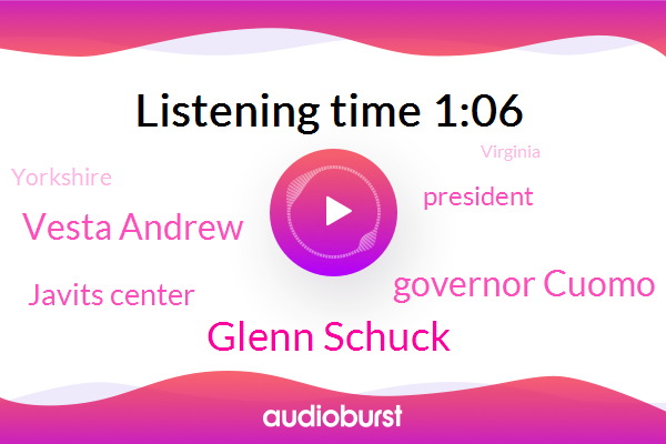 Glenn Schuck,Governor Cuomo,President Trump,Virginia,Javits Center,New York,Yorkshire,Vesta Andrew
