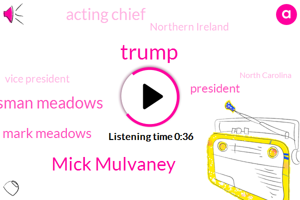 Donald Trump,Acting Chief,Mick Mulvaney,Northern Ireland,Vice President,Congressman Meadows,President Trump,North Carolina,Congressman,Mark Meadows,Chief Of Staff