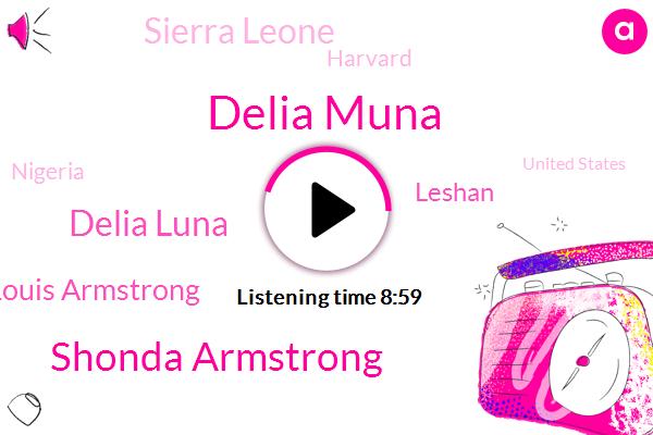 Nigeria,Delia Muna,United States,Assault,Sierra Leone,Shonda Armstrong,Harvard,Delia Luna,Hudson River,London,Washington,New York,Louis Armstrong,Leshan,Deputy Director,Principal,Attorney,Professor