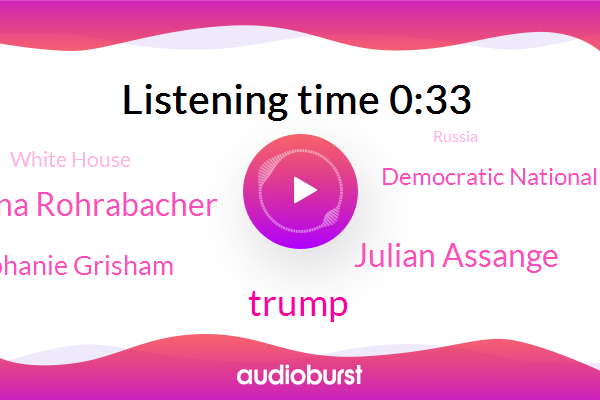 Julian Assange,Russia,Democratic National Committee,London,Dana Rohrabacher,Stephanie Grisham,President Trump,Donald Trump,Congressman,White House,Press Secretary