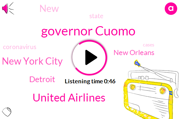 New York City,Detroit,New Orleans,Governor Cuomo,United Airlines