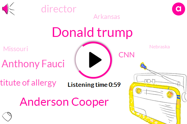 Director,Donald Trump,Anderson Cooper,Arkansas,Missouri,Nebraska,Dr Anthony Fauci,National Institute Of Allergy,CNN,Alabama,Iowa,Wyoming