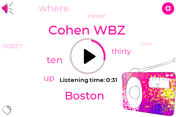 Cohen Wbz,Boston,Fifty Five Degrees,Ten Foot
