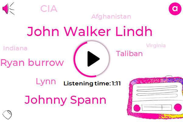 John Walker Lindh,Johnny Spann,Taliban,Afghanistan,Ryan Burrow,ABC,Indiana,CIA,Lynn,Virginia,Seventeen Years,Twenty Year
