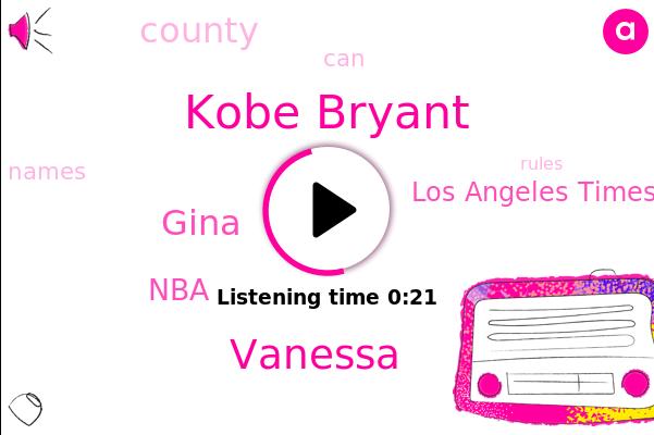 Kobe Bryant,Vanessa,Gina,NBA,Los Angeles Times