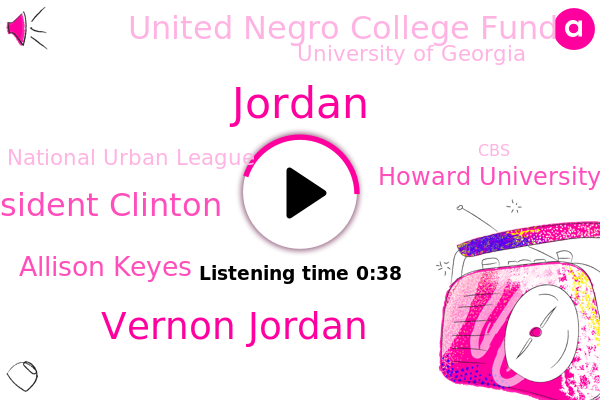 Vernon Jordan,President Clinton,Howard University,Jordan,Atlanta,United Negro College Fund,University Of Georgia,National Urban League,LA,Washington,Allison Keyes,CBS