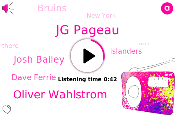 Islanders,Bruins,Jg Pageau,Oliver Wahlstrom,Josh Bailey,New York,Dave Ferrie