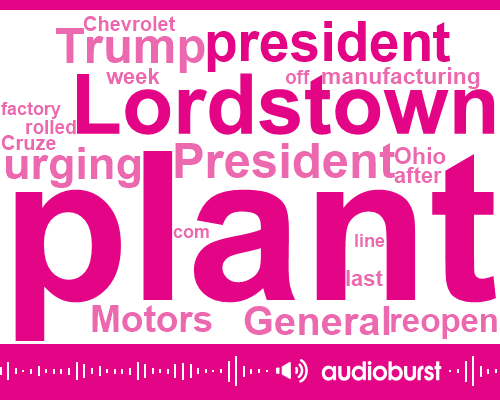 President Trump,General Motors,Donald Trump,United Auto Workers,Lordstown,Lordstown Ohio,United States,Cruze,Mexico,China