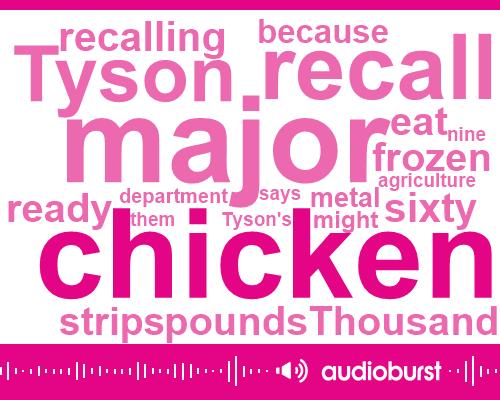 Tyson,Department Of Agriculture,Twenty Five Ounce,Thousand Pounds