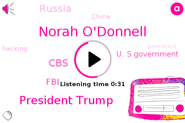 U. S Government,Norah O'donnell,CBS,President Trump,Russia,FBI,China
