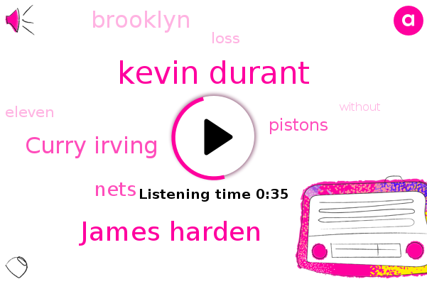 Kevin Durant,Nets,Pistons,James Harden,Curry Irving,Brooklyn