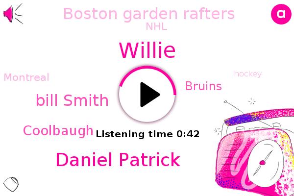 Boston Garden Rafters,Bruins,NHL,Daniel Patrick,Willie,Bill Smith,Montreal,Hockey,Coolbaugh