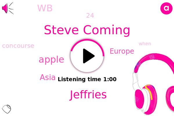 Steve Coming,Jeffries,WB,Asia,Europe,Apple