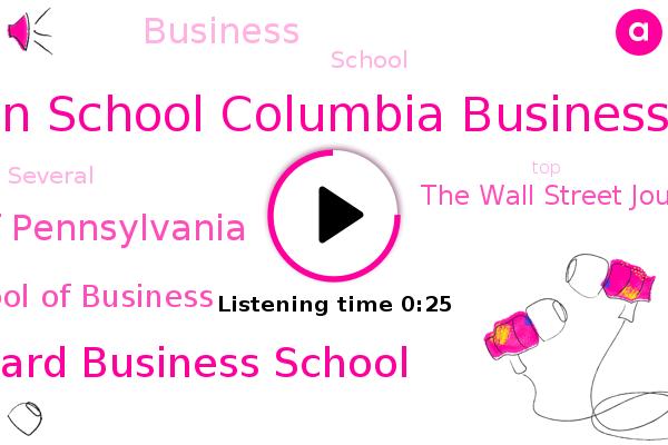 Wharton School Columbia Business School,Harvard Business School,The Wall Street Journal,University Of Pennsylvania,Stanford Graduate School Of Business