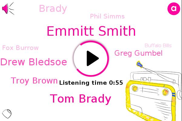 Emmitt Smith,Super Bowl,Buffalo Bills,Tom Brady,Heinz Field,Drew Bledsoe,Troy Brown,Greg Gumbel,Brady,New England Patriots,Phil Simms,CBS,Fox Burrow,NFL