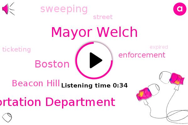 Boston Transportation Department,Beacon Hill,Boston,Mayor Welch