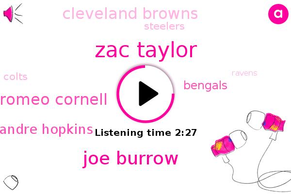 Bengals,Cleveland Browns,Zac Taylor,Joe Burrow,Romeo Cornell,Houston,Football,Beaver Creek,Washington,Andre Hopkins,Steelers,Colts,Ravens,AFC,Patriots,New England,Buffalo,Miami,Tennessee