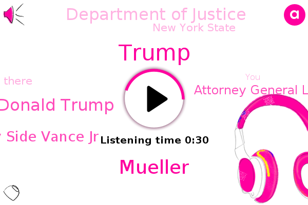 Donald Trump,Mueller,Department Of Justice,Hatton District Attorney Side Vance Jr,New York State,Attorney General Laetitia James