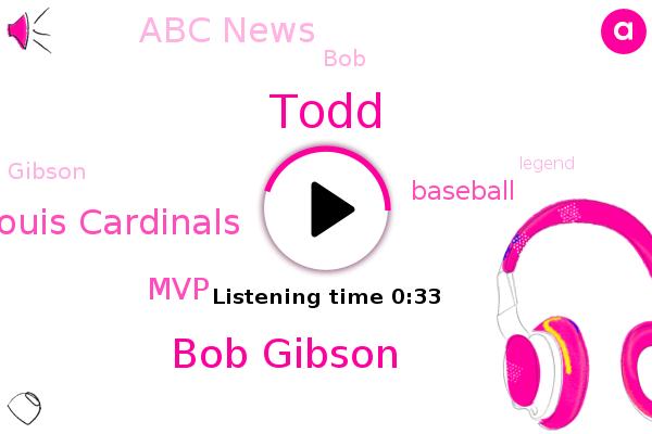 Bob Gibson,St Louis Cardinals,MVP,Abc News,Todd,Baseball