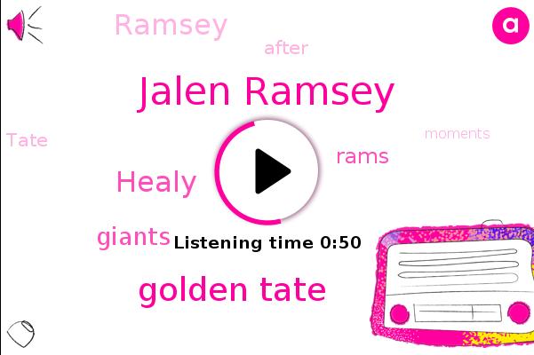 Jalen Ramsey,Golden Tate,Giants,Rams,Healy