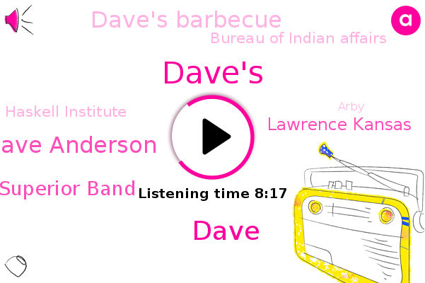 Dave,Dave Anderson,Oklahoma,Dave's,Chicago,Dave's Barbecue,Likud Ray Lake Superior Band,Bureau Of Indian Affairs,Haskell Institute,Lawrence Kansas,Arby,Wisconsin,Boardman,Epsilon,Shawnee,San Bernardino,Ocean City,Likud,NPR