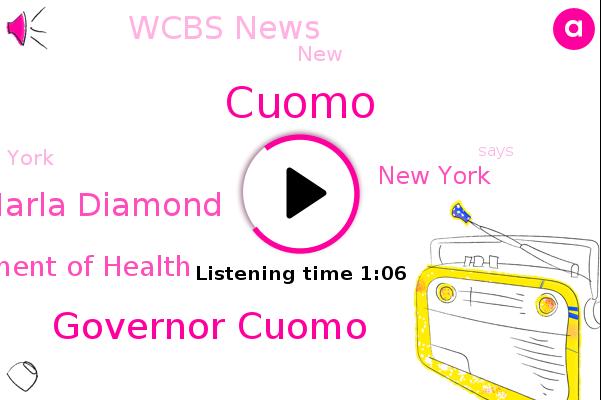 Governor Cuomo,Marla Diamond,Wcbs,New York,Cuomo,Department Of Health,Wcbs News