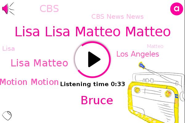 Cbs News News,Lisa Lisa Matteo Matteo,Academy Academy Museum Museum Of Of Motion Motion,CBS,Bruce,Los Angeles,Lisa Matteo