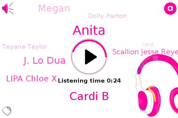 Cardi B,J. Lo Dua,Lipa Chloe X,Scallion Jesse Reyes,Megan,Steve,Anita,Dolly Parton,Teyana Taylor