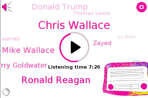 Chris Wallace,United States,State Of Journalism,Ronald Reagan,Fox News,Mike Wallace,Barry Goldwater,The New York Times,Zayed,Ohio,Donald Trump,Cleveland,Intern,Thomas Lewis,Warren,Joe Biden,San Francisco,Barda,Nelson Rockefeller
