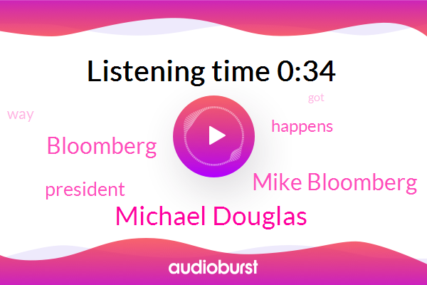 Bloomberg,Michael Douglas,President Trump,Mike Bloomberg