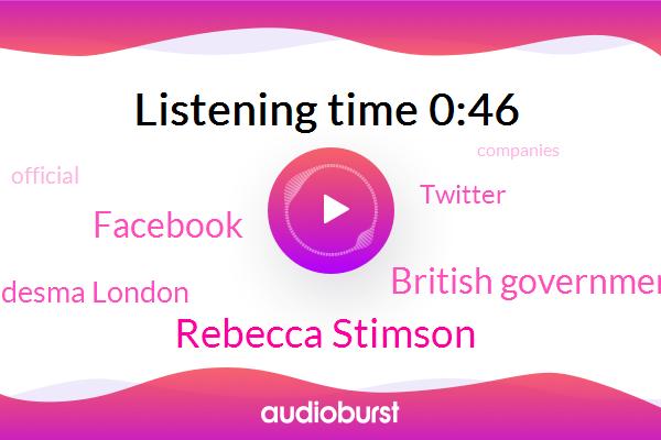 British Government,Facebook,Rebecca Stimson,Charles De Ledesma London,Twitter,Official