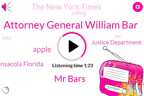Listen: Barr Asks Apple to Unlock Pensacola Killer's Phones, Setting Up Clash